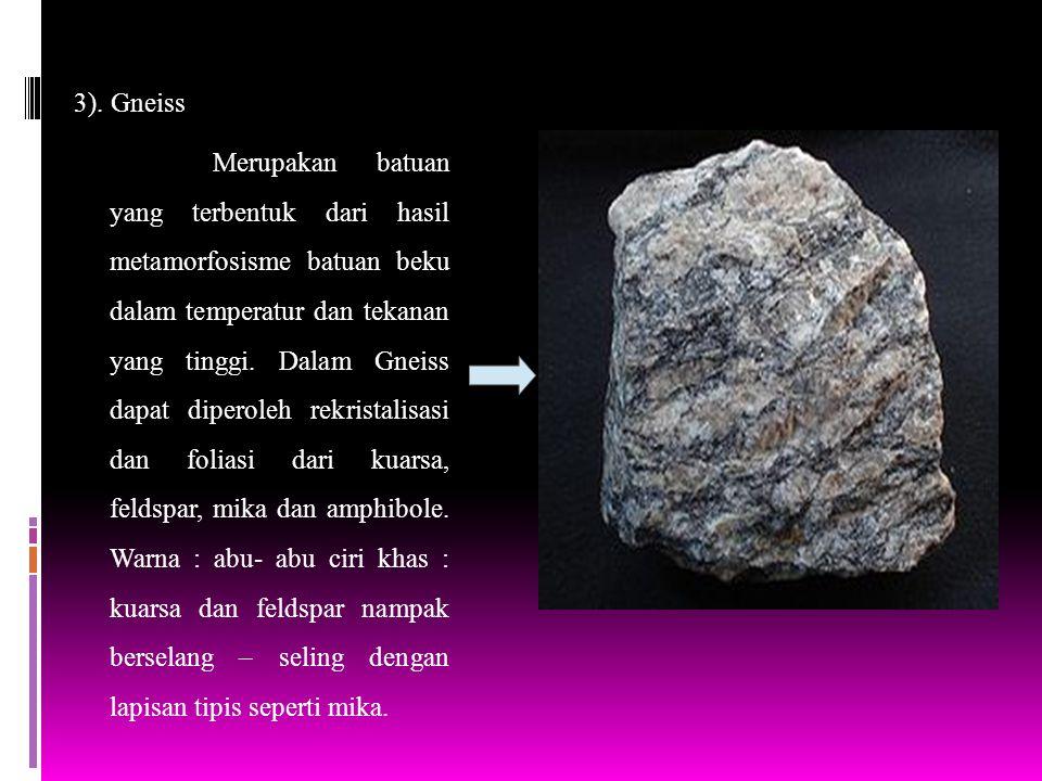 3). Gneiss