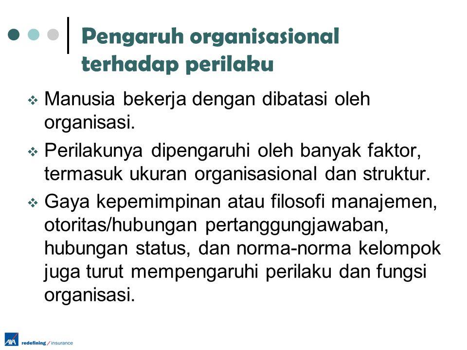 Pengaruh organisasional terhadap perilaku