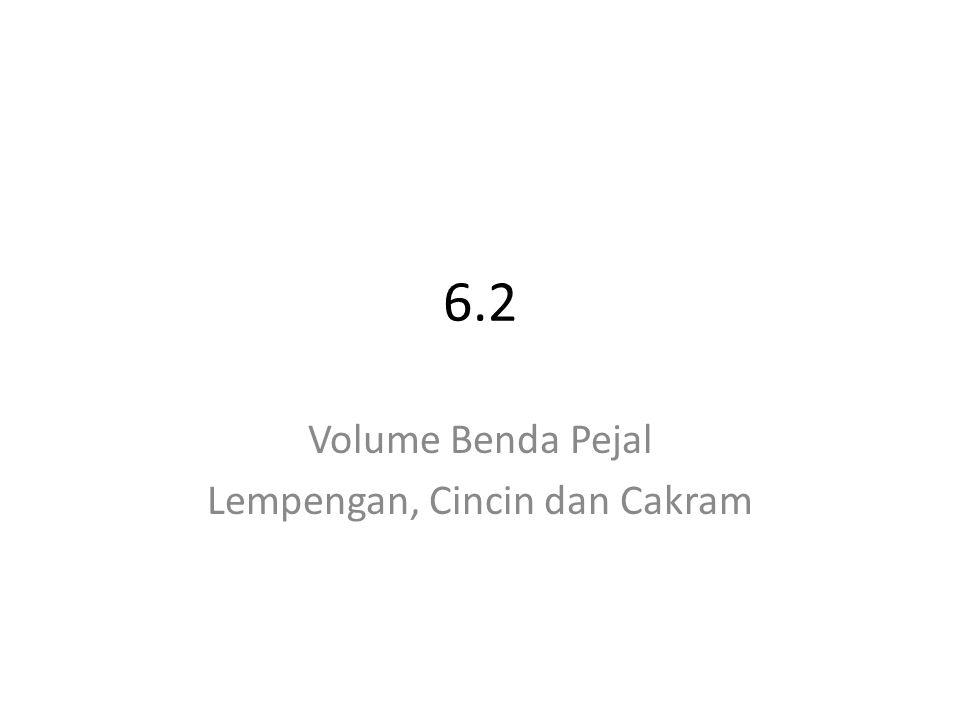 Volume Benda Pejal Lempengan, Cincin dan Cakram