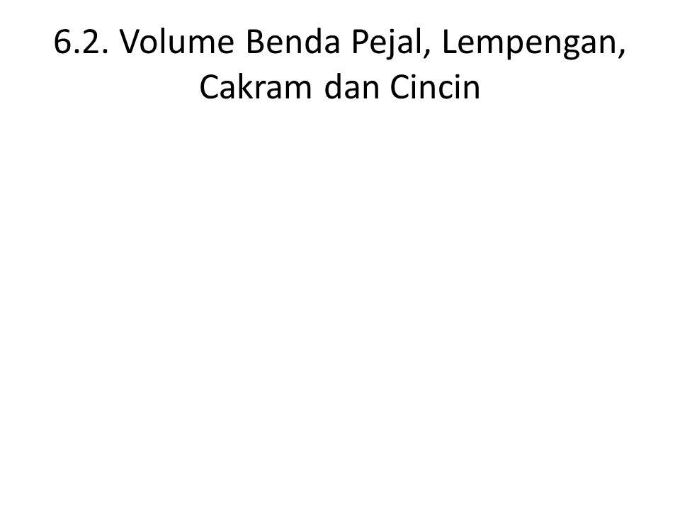 6.2. Volume Benda Pejal, Lempengan, Cakram dan Cincin