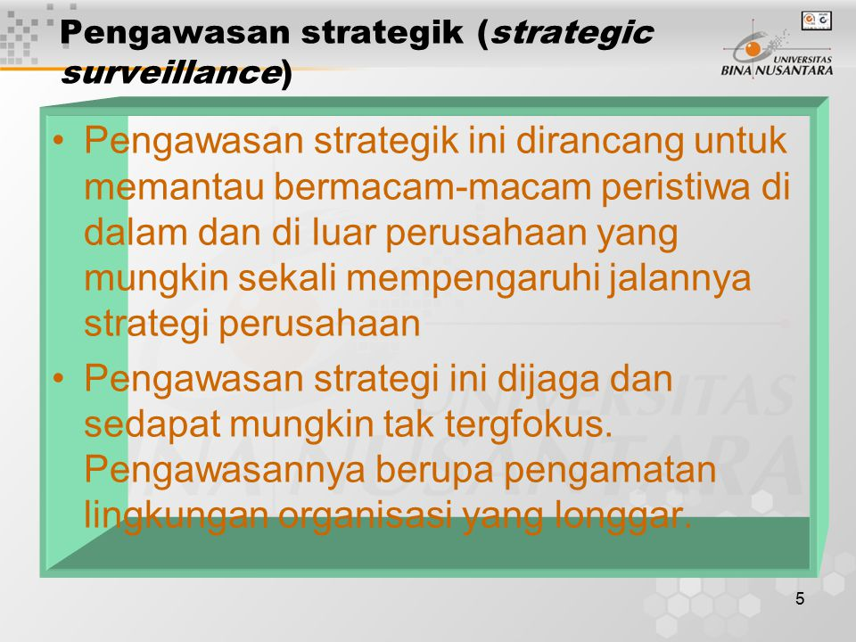 Pengawasan strategik (strategic surveillance)