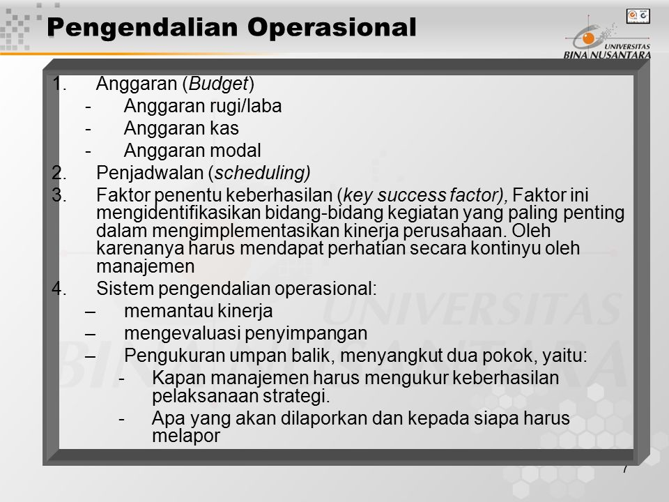 Pengendalian Operasional