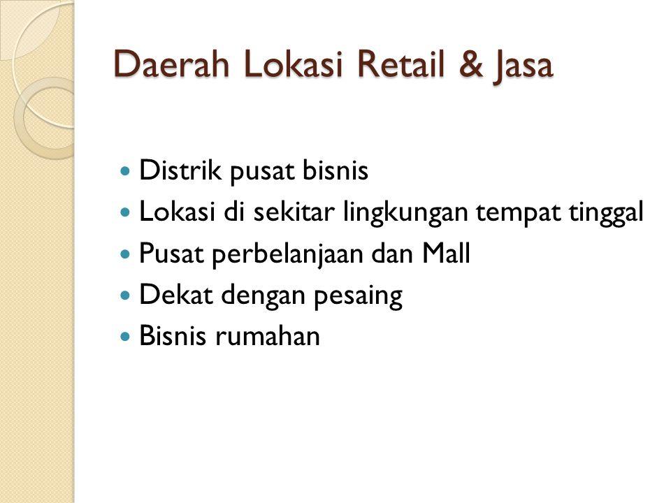 Daerah Lokasi Retail & Jasa