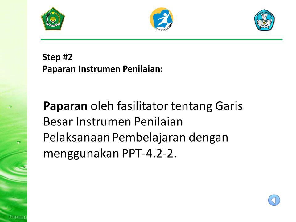 Step #2 Paparan Instrumen Penilaian: