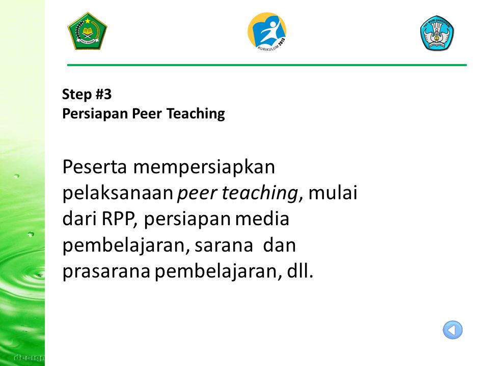 Step #3 Persiapan Peer Teaching.