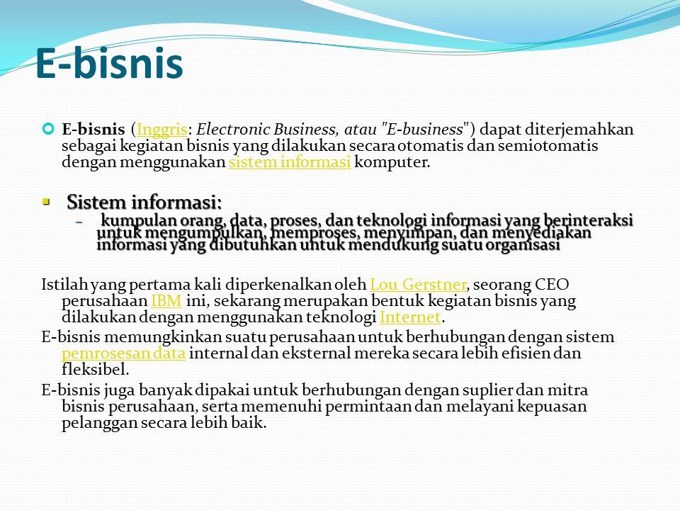 E-bisnis Sistem informasi: