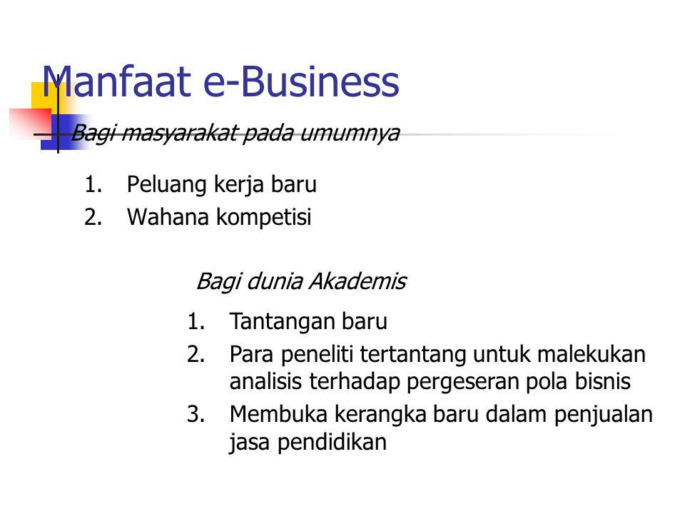Manfaat e-Business Bagi masyarakat pada umumnya