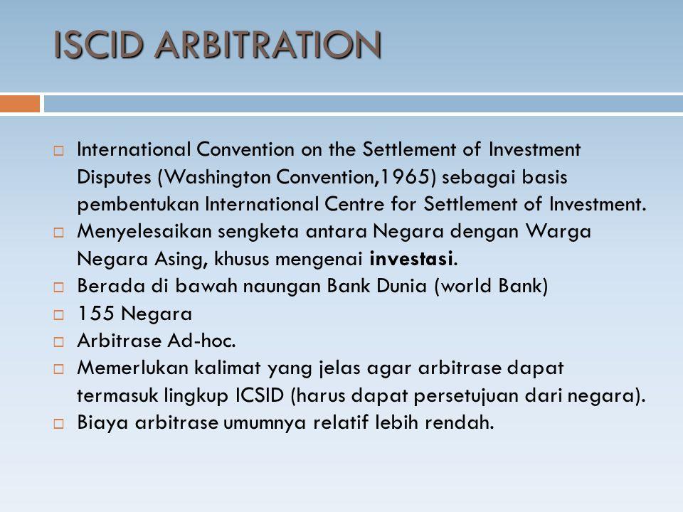ISCID ARBITRATION