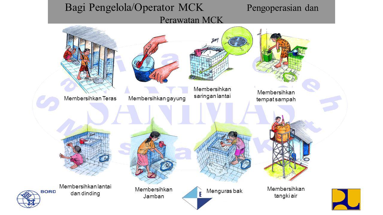 Bagi Pengelola/Operator MCK Pengoperasian dan Perawatan MCK