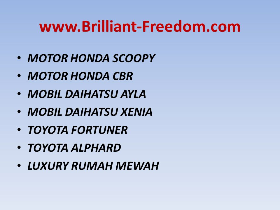 www.Brilliant-Freedom.com MOTOR HONDA SCOOPY MOTOR HONDA CBR
