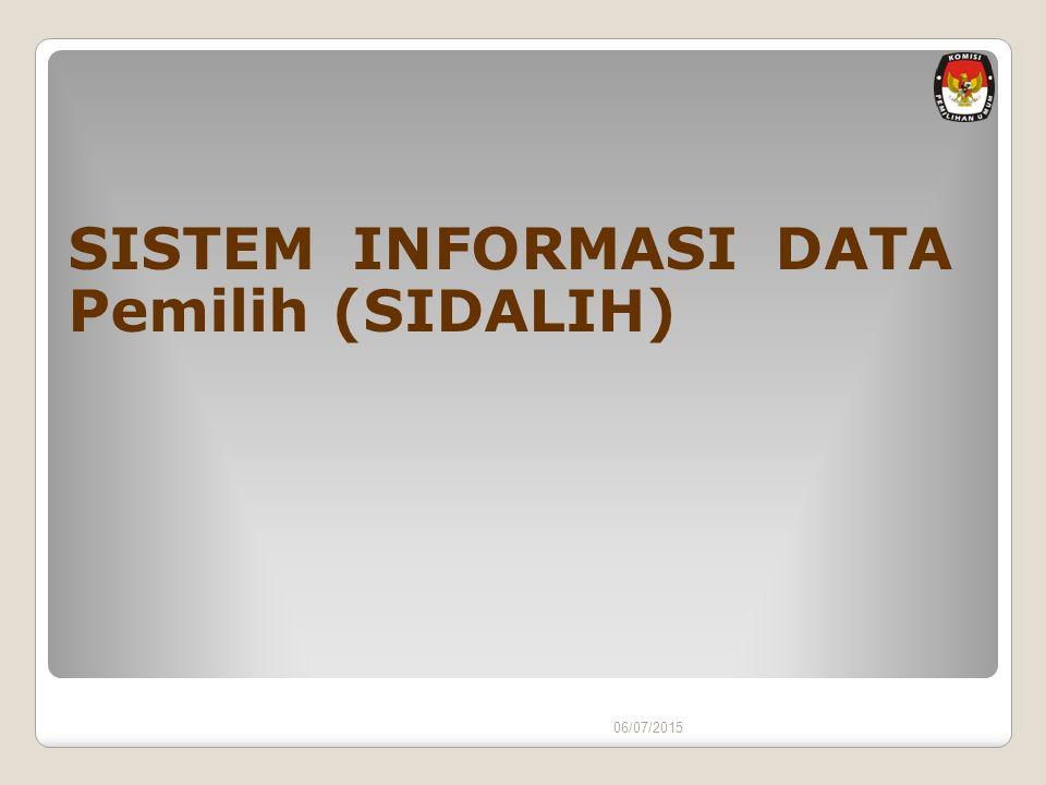 SISTEM INFORMASI DATA Pemilih (SIDALIH)