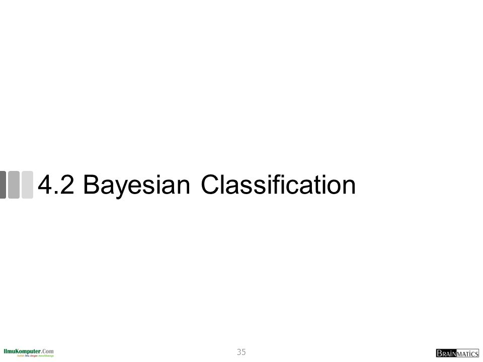 4.2 Bayesian Classification