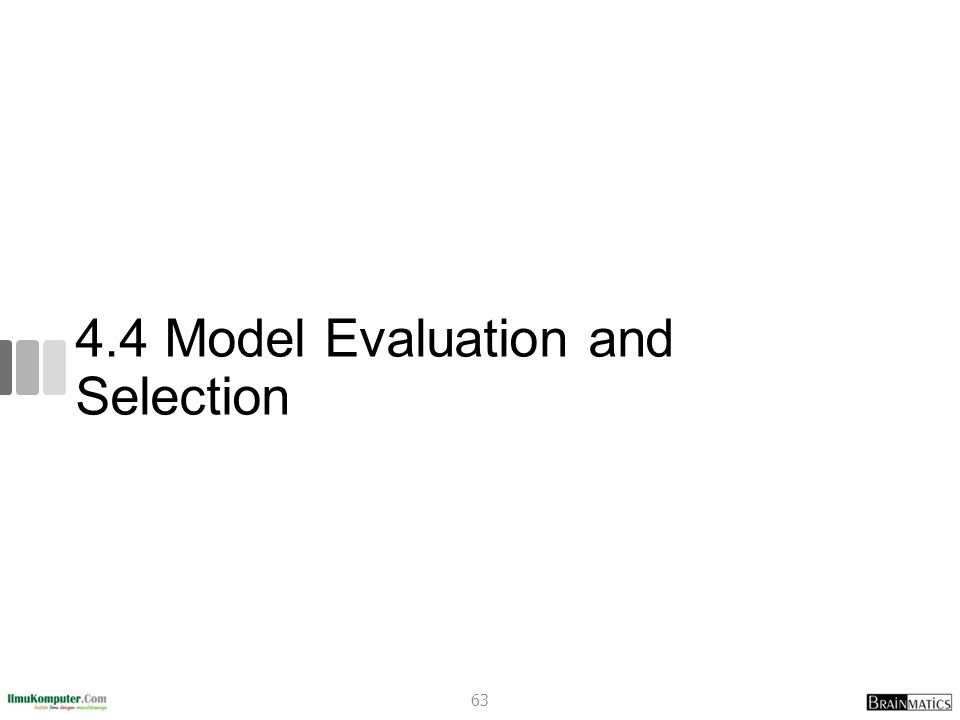 4.4 Model Evaluation and Selection
