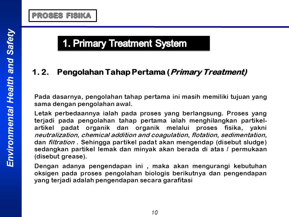 1. 2. Pengolahan Tahap Pertama (Primary Treatment)