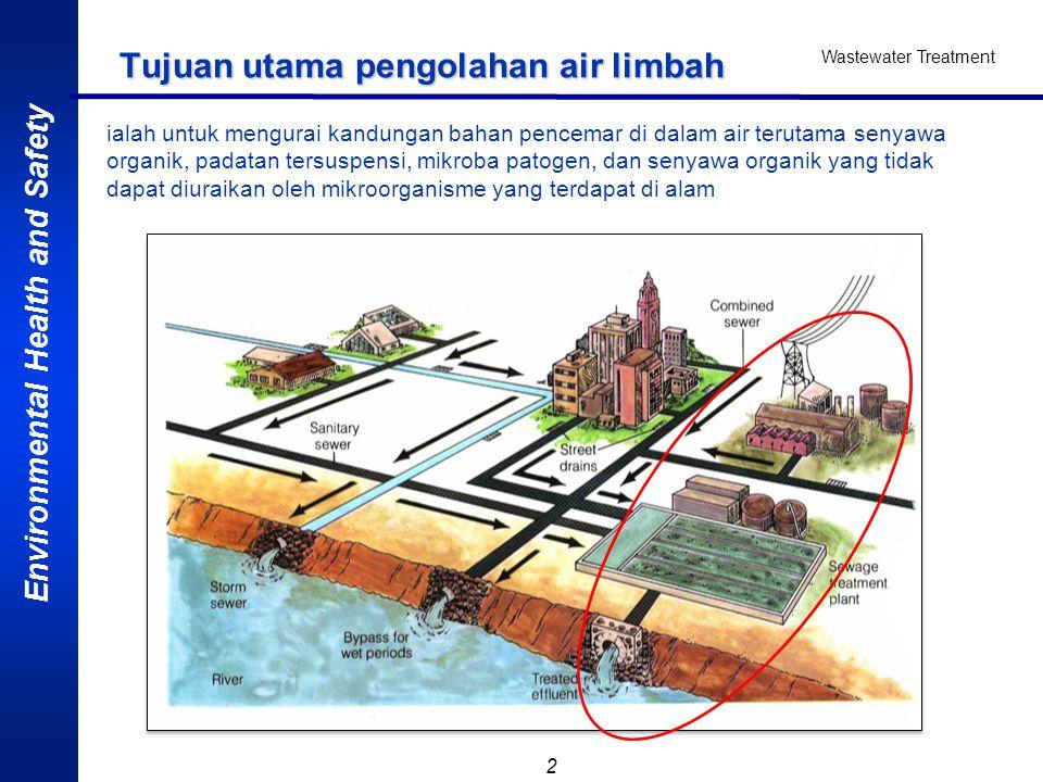 Tujuan utama pengolahan air limbah
