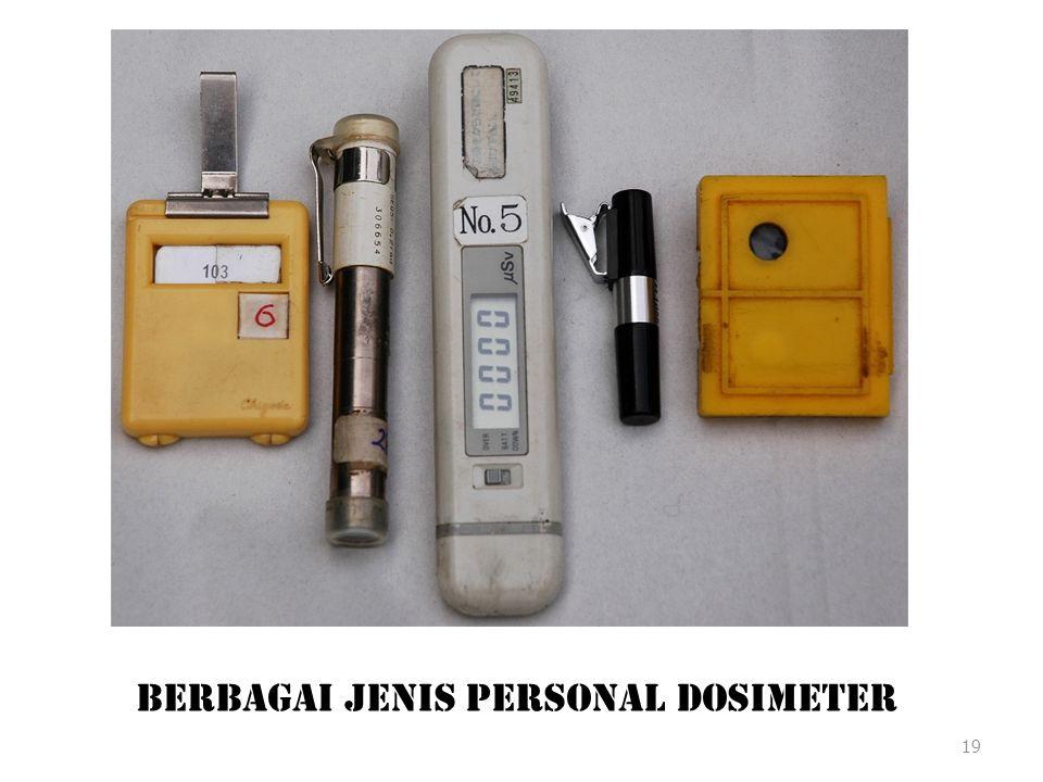 Berbagai Jenis Personal Dosimeter
