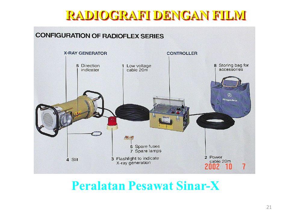 RADIOGRAFI DENGAN FILM Peralatan Pesawat Sinar-X