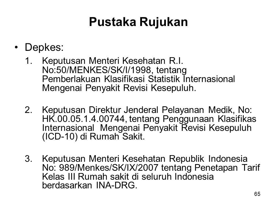 Pustaka Rujukan Depkes: