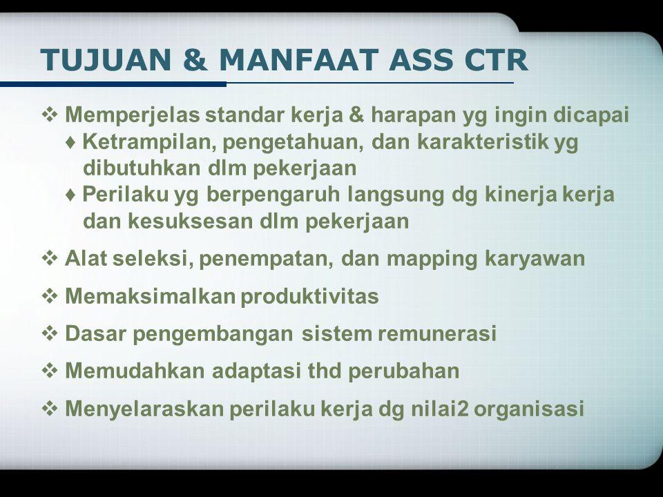 TUJUAN & MANFAAT ASS CTR