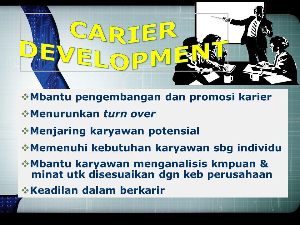 CARIER DEVELOPMENT Mbantu pengembangan dan promosi karier