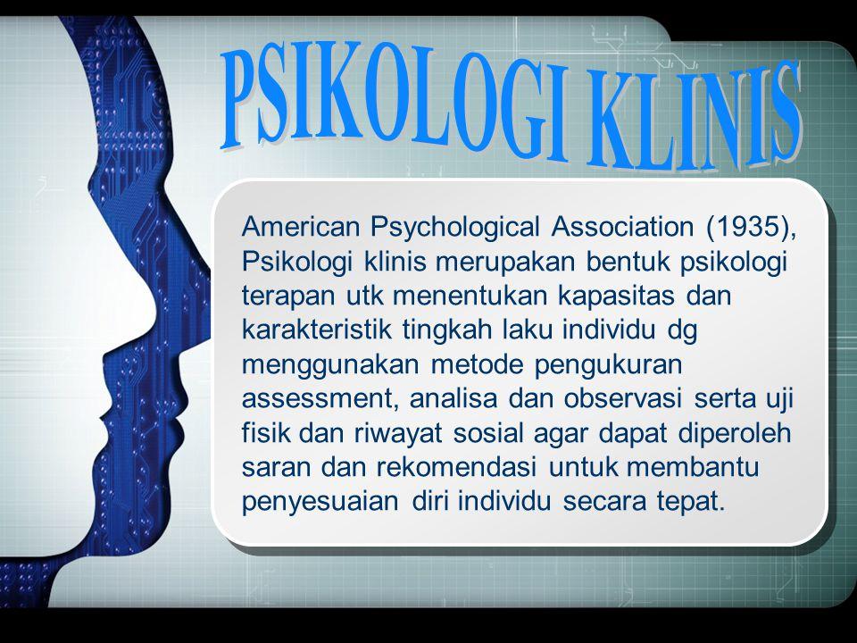 PSIKOLOGI KLINIS