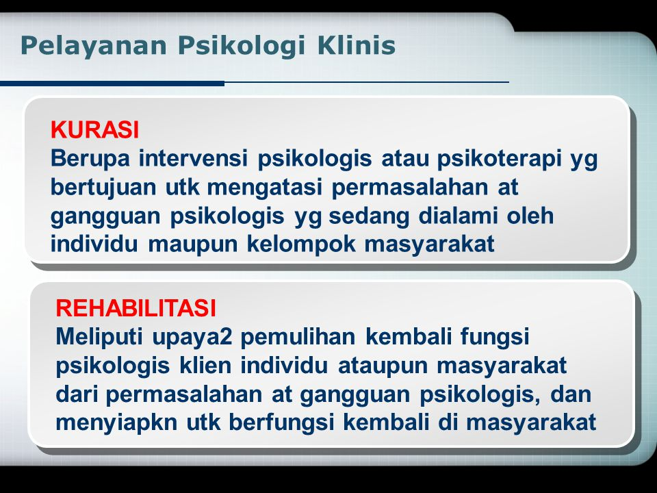 Pelayanan Psikologi Klinis