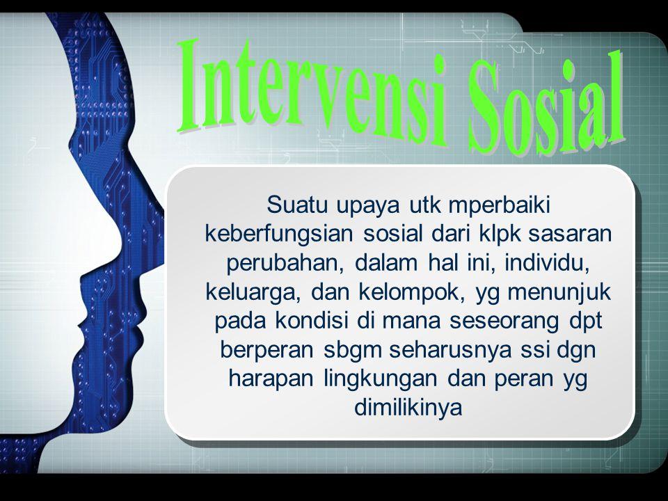 Intervensi Sosial