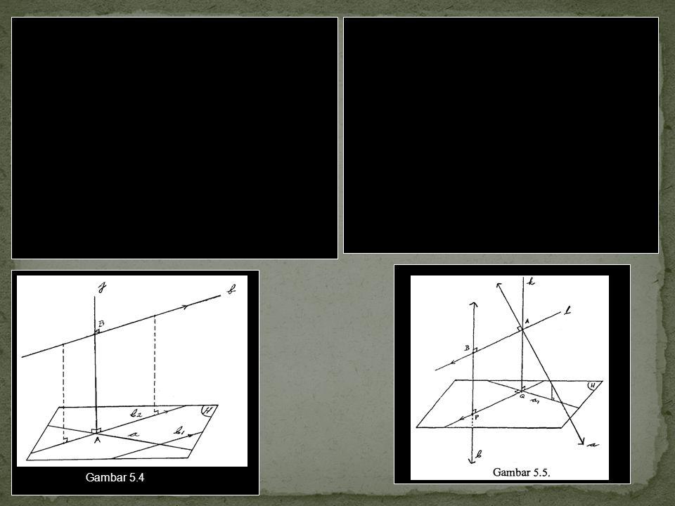 Dua cara atau langkah untuk menentukan jarak antara dua garis a dan b yang s bersilangan.