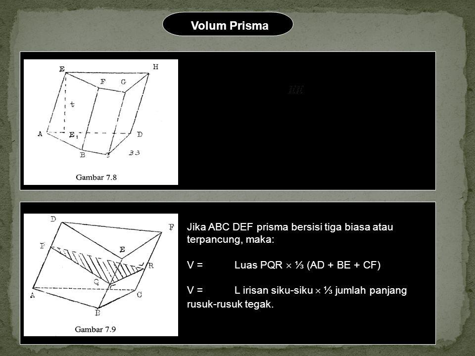 Volum Prisma V = L alas  t