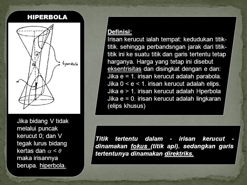 HIPERBOLA Definisi: