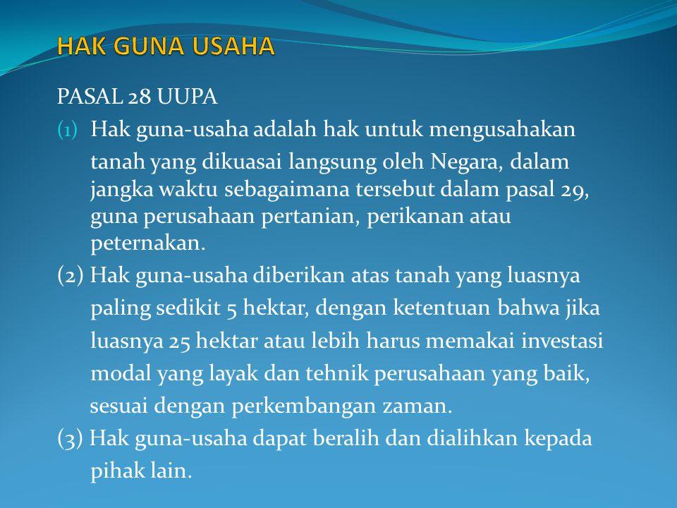 HAK GUNA USAHA PASAL 28 UUPA