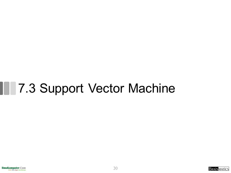7.3 Support Vector Machine