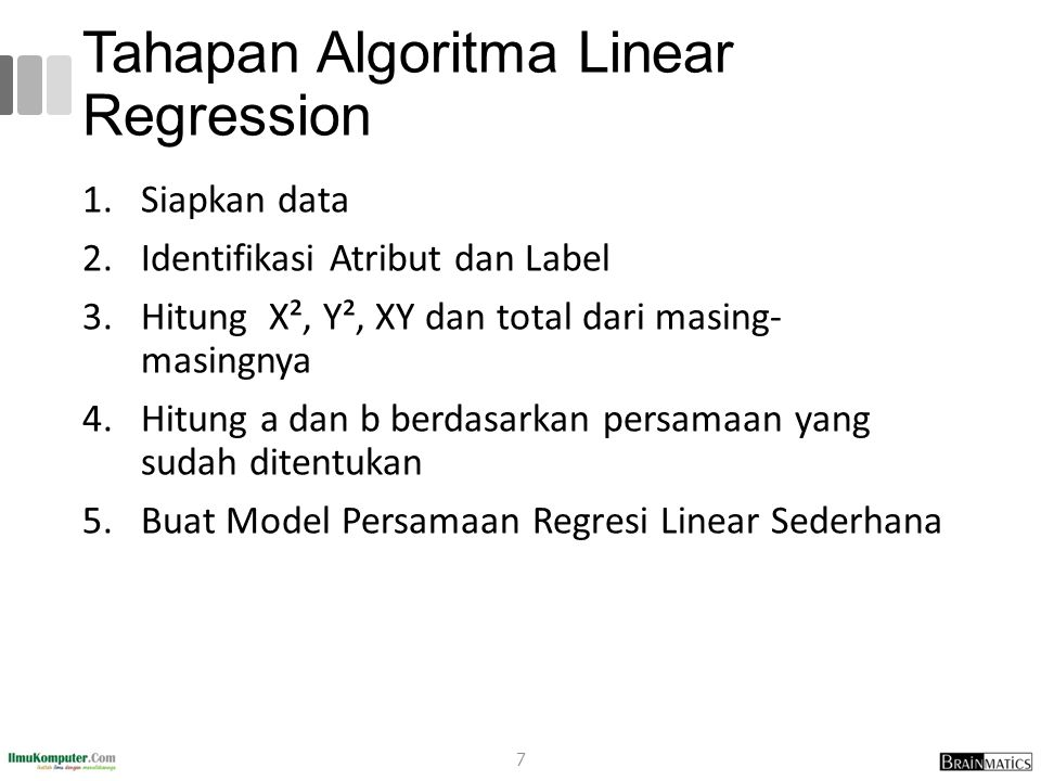 Tahapan Algoritma Linear Regression