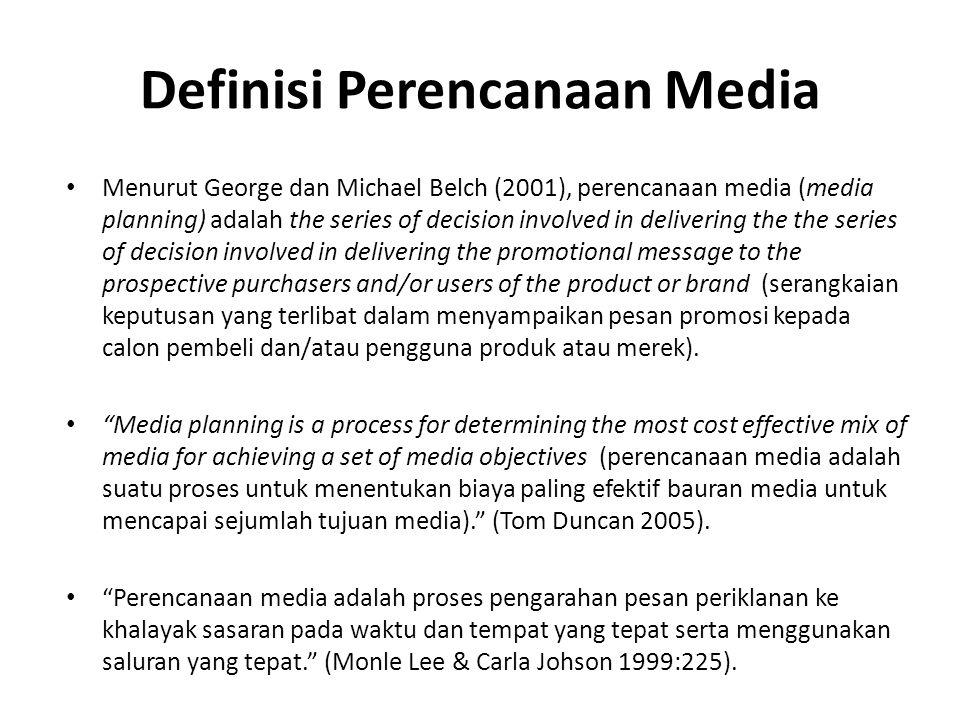 Definisi Perencanaan Media
