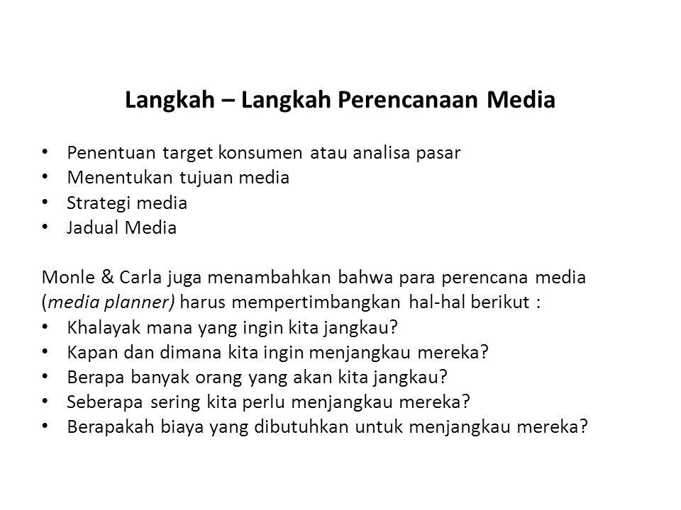 Langkah – Langkah Perencanaan Media