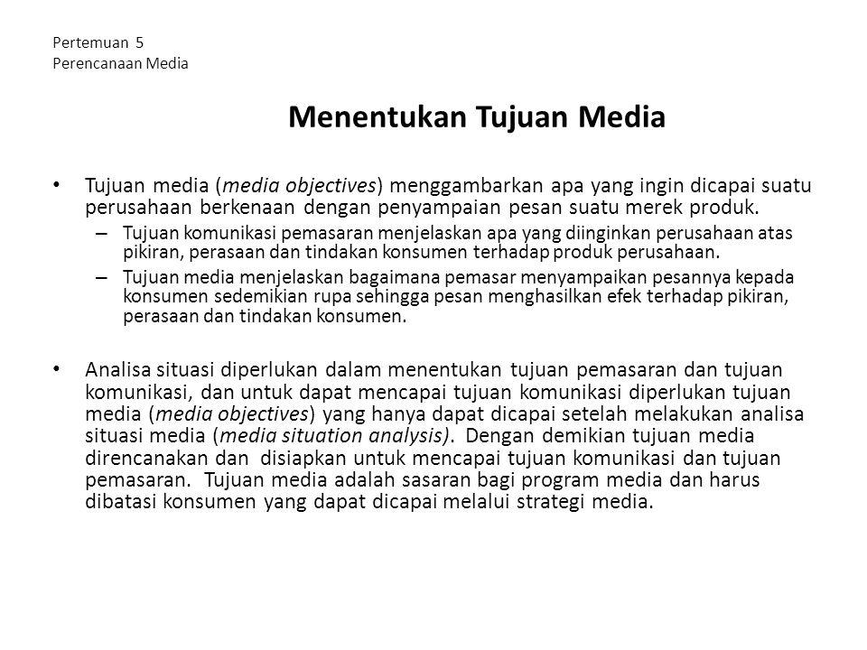 Pertemuan 5 Perencanaan Media