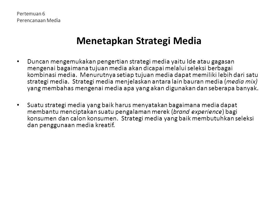 Pertemuan 6 Perencanaan Media