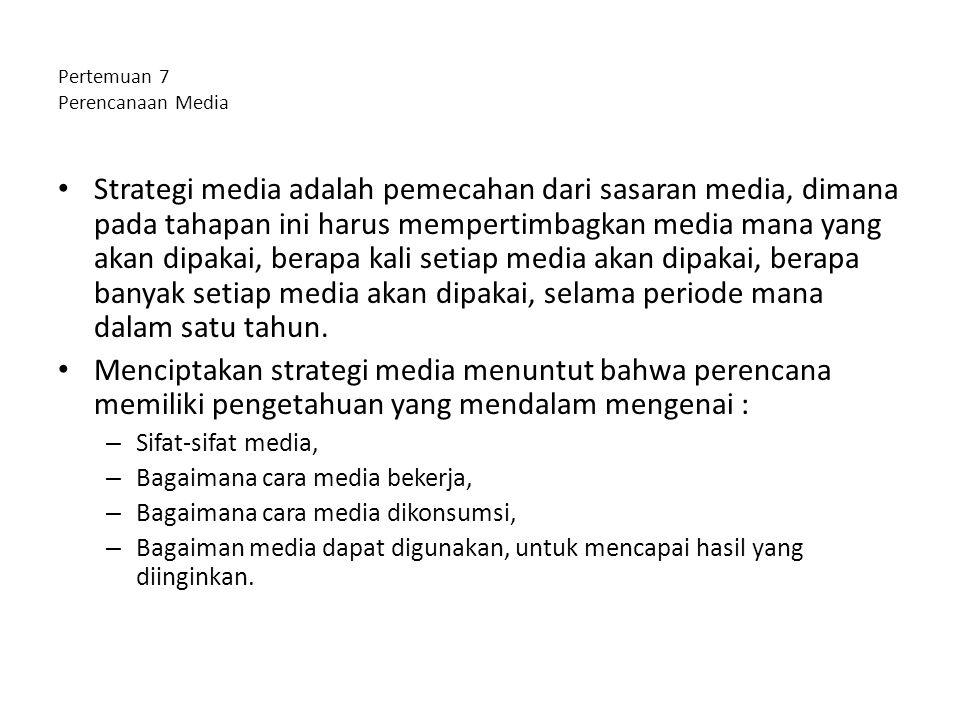 Pertemuan 7 Perencanaan Media