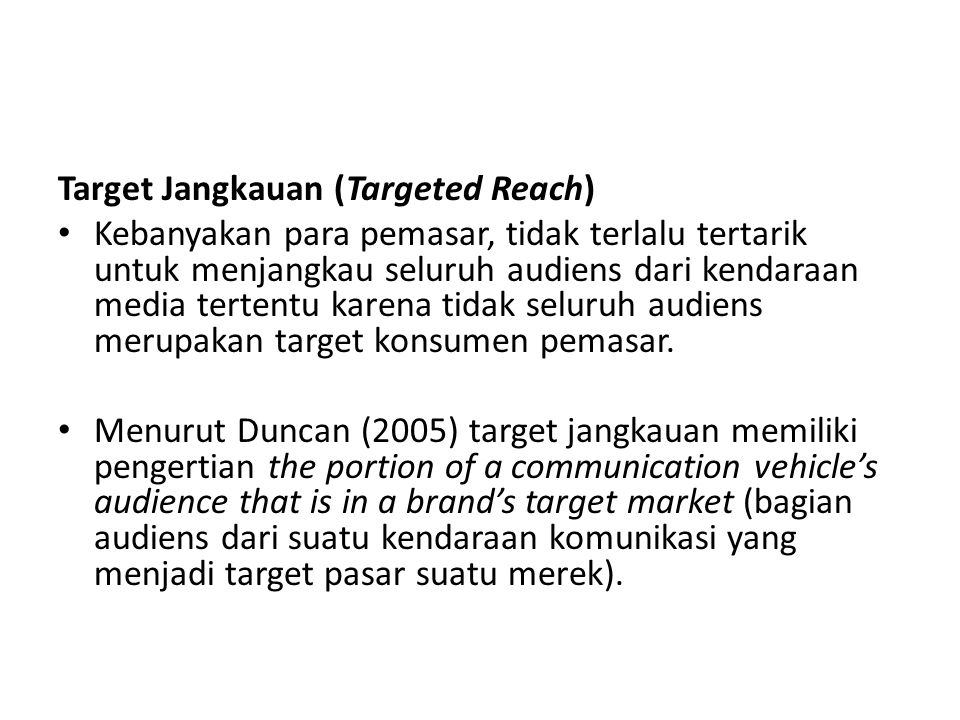 Target Jangkauan (Targeted Reach)
