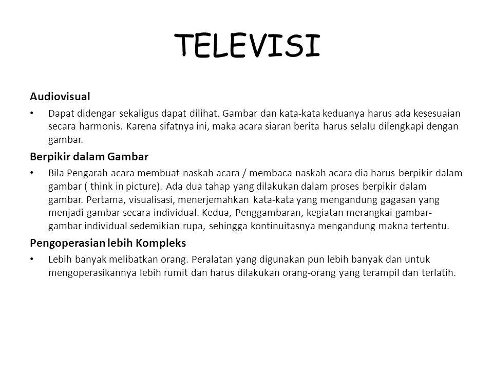 TELEVISI Audiovisual Berpikir dalam Gambar