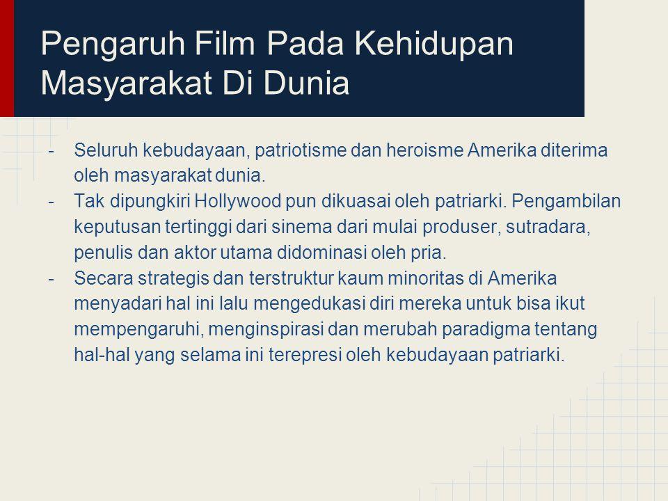 Pengaruh Film Pada Kehidupan Masyarakat Di Dunia