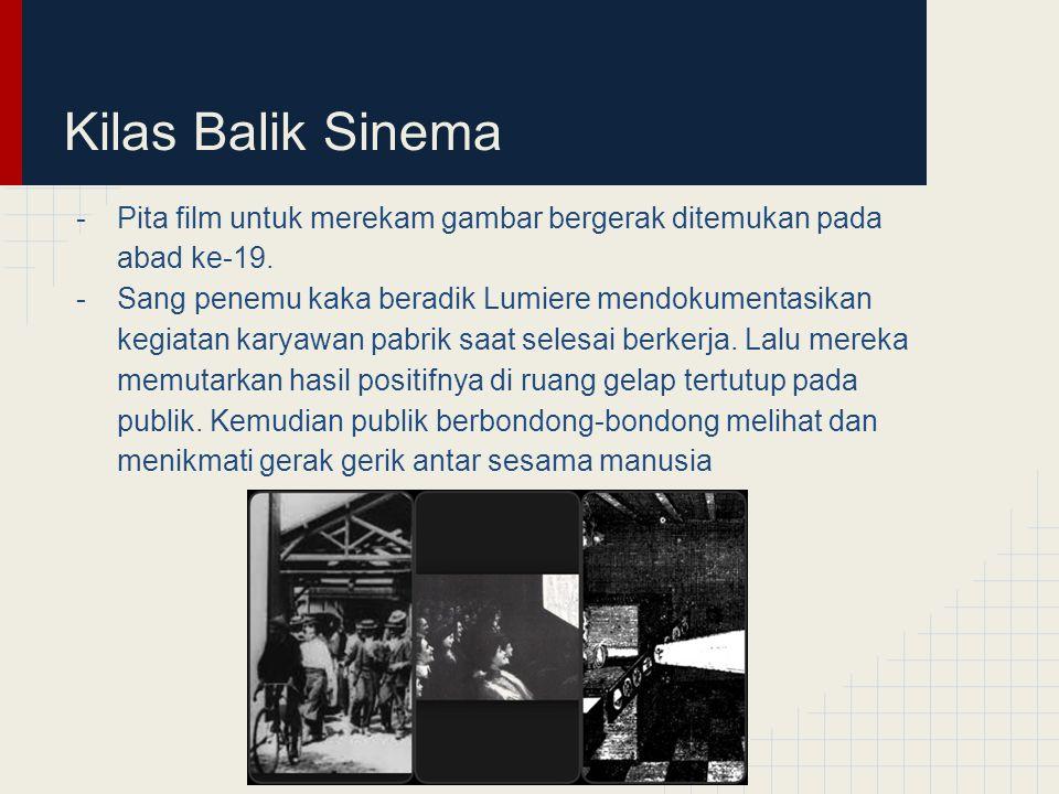 Kilas Balik Sinema Pita film untuk merekam gambar bergerak ditemukan pada abad ke-19.
