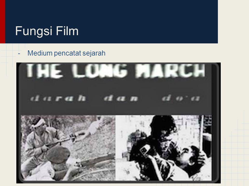 Fungsi Film Medium pencatat sejarah