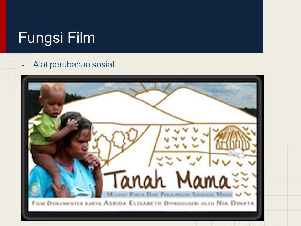 Fungsi Film Alat perubahan sosial