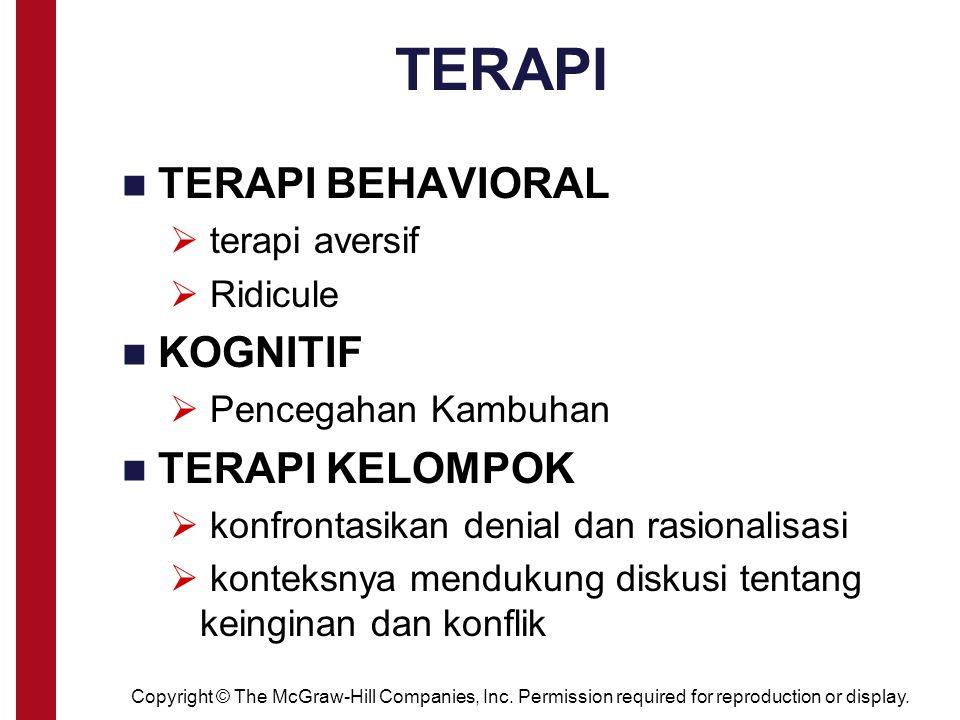 TERAPI TERAPI BEHAVIORAL KOGNITIF TERAPI KELOMPOK terapi aversif
