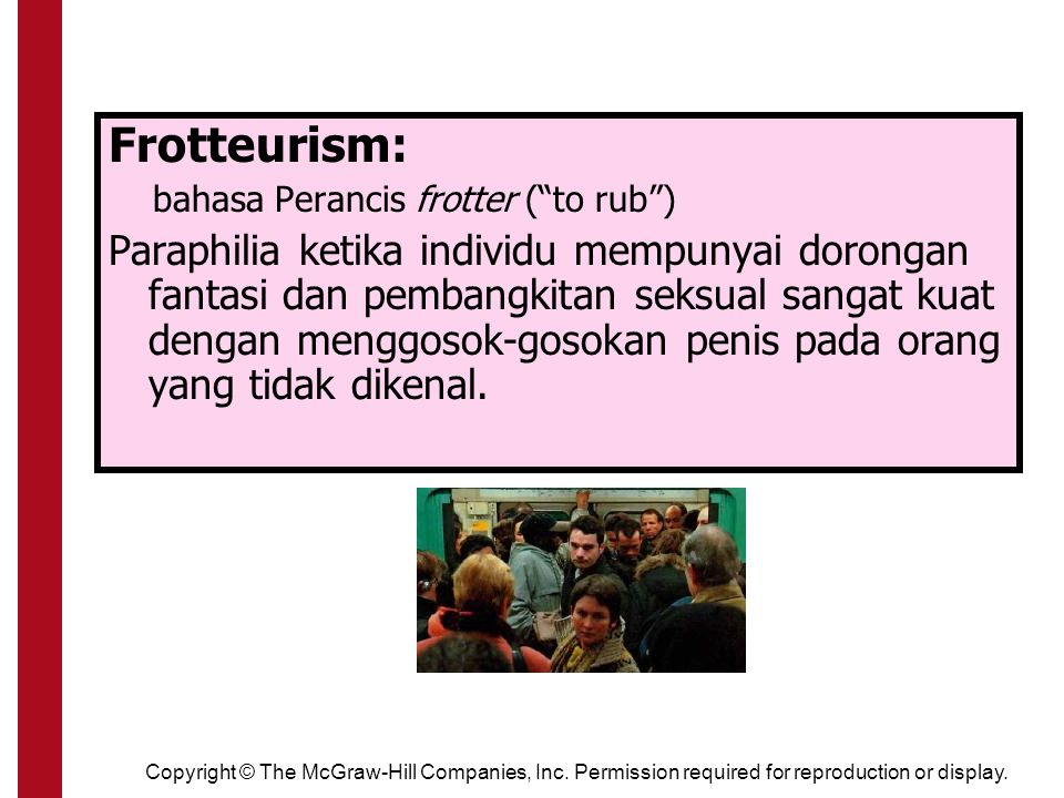 Frotteurism: bahasa Perancis frotter ( to rub )