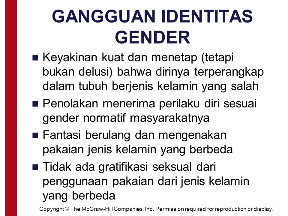 GANGGUAN IDENTITAS GENDER