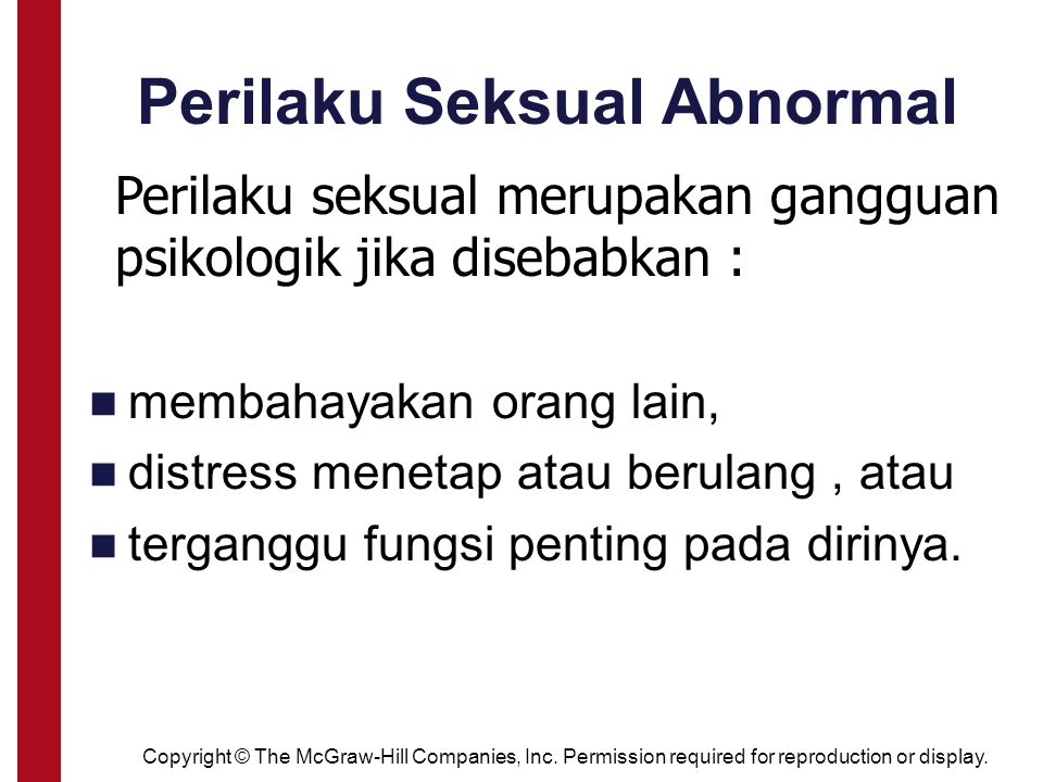 Perilaku Seksual Abnormal