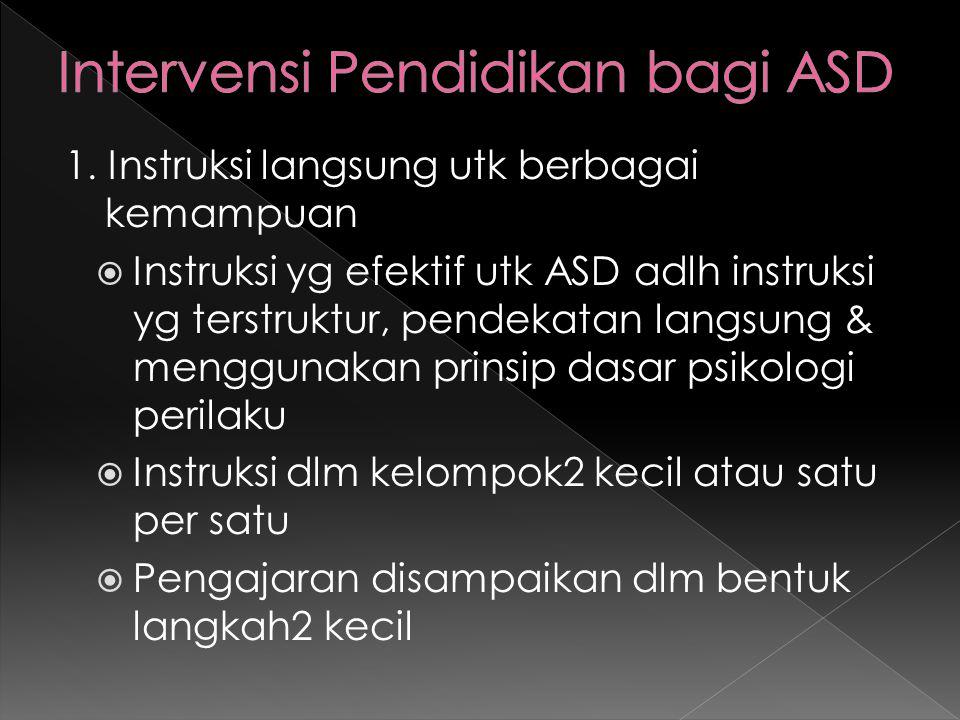 Intervensi Pendidikan bagi ASD