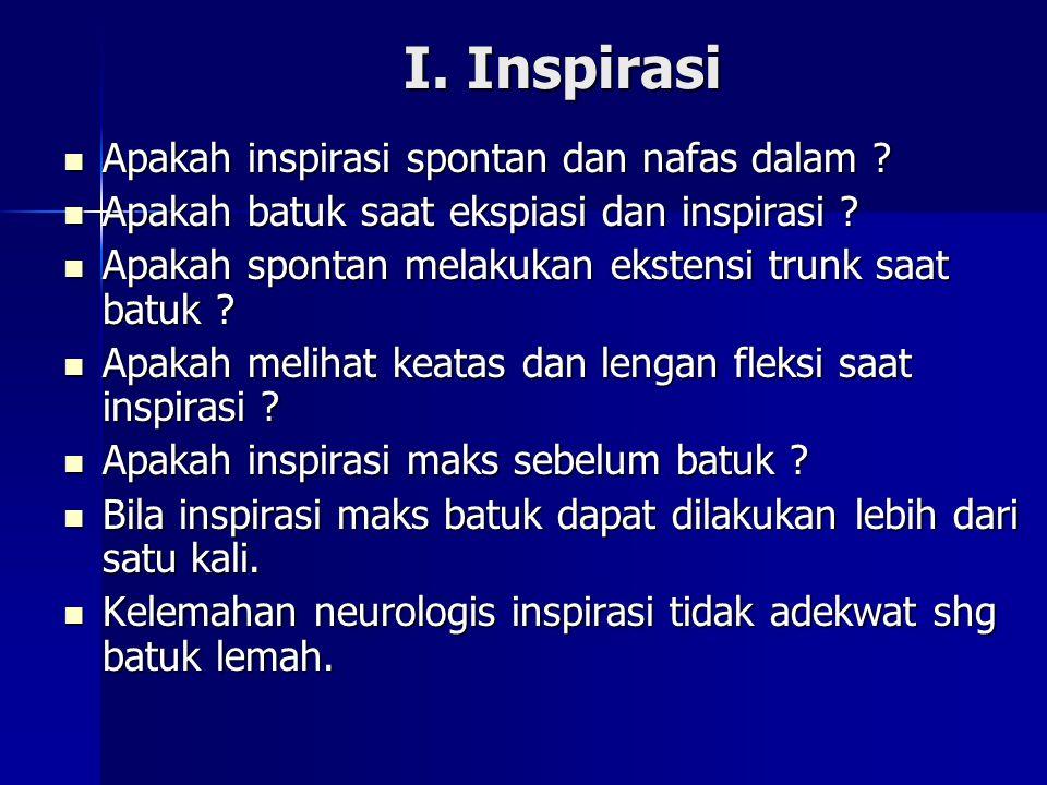 Apakah inspirasi spontan dan nafas dalam